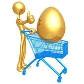 Investment Egg Shopping Cart — Stock Photo