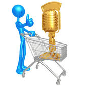 Microphone Shopping Cart — Stock Photo
