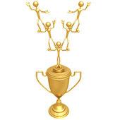 Teamwork Trophy — Stock Photo