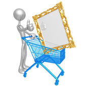 Art Shopping Cart — Stock Photo