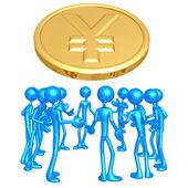 Foro yen — Foto de Stock