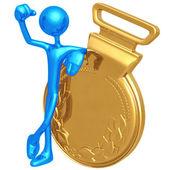 Gold Medal Winner — Stock Photo