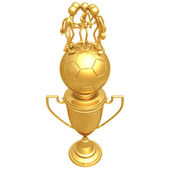 Fotboll Fotboll team trophy — Stockfoto