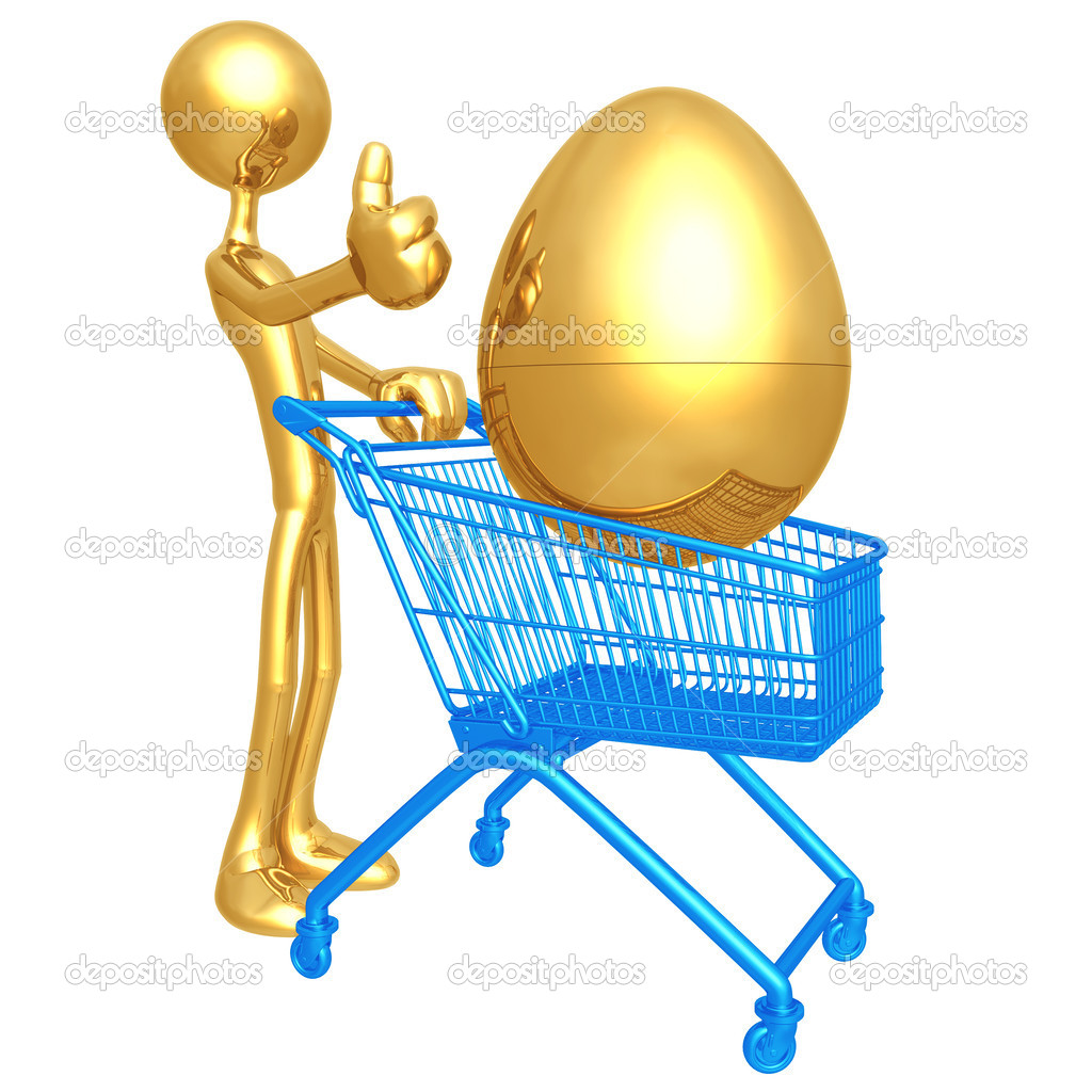 Investment Egg Shopping Cart — Stock Photo #12326606