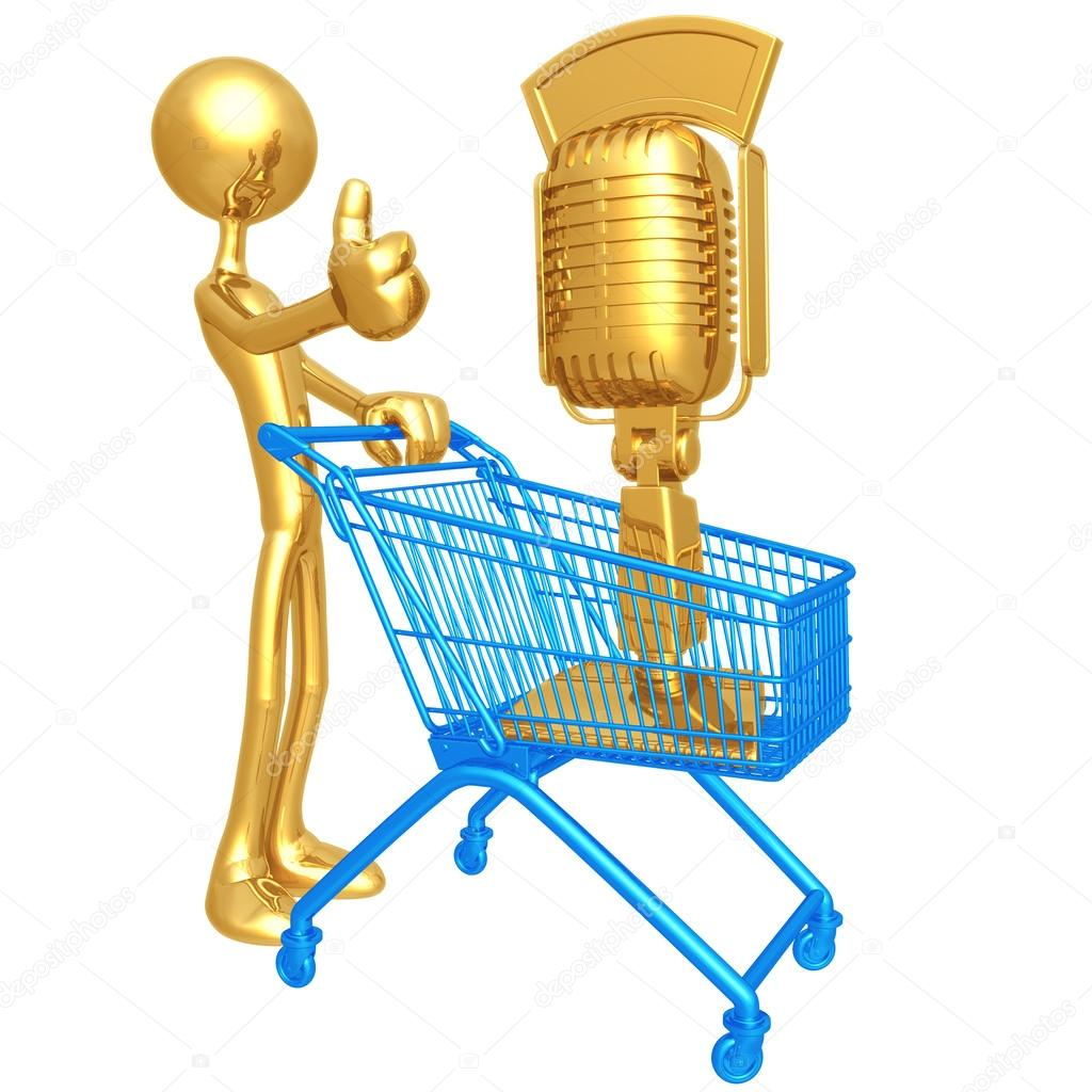 Microphone Shopping Cart — Stock Photo #12326608