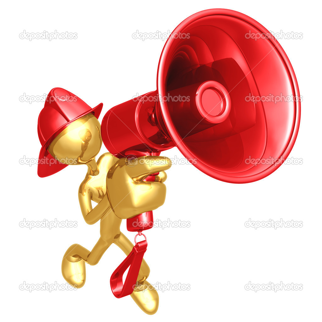 Fireman Megaphone  Stock Photo #12327110