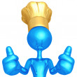 Chef Two Thumbs Up — Stock Photo