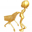 Pregnant Woman Shopping — Stockfoto