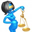 Stock Photo: Pregnant Lady Justice