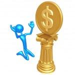 Dollar Coin Idol — Stock Photo #12346537