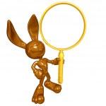 Mini Chocolate Easter Bunny — Stock Photo #12348941