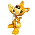 Mini Gold Guy In A Cat Costume — Stock Photo #12348984