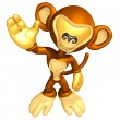 Mini Gold Guy In A Monkey Costume - Stock Photo