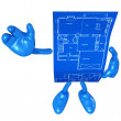 Home Construction Blueprint — Stock Photo