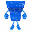 Stock Photo: Home Construction Blueprint