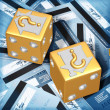 Realty Risk Dice — Stock Photo