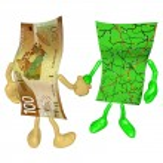 Geld Karte handshake — Stockfoto