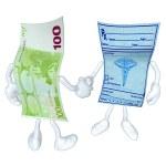 Money Medical Prescription Handshake — Stock Photo