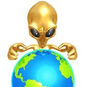 Alien Global Domination — Stock Photo