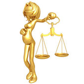 Pregnant Lady Justice — Stock Photo