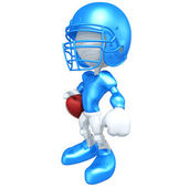 Mini Little League Football Player — Stock Photo