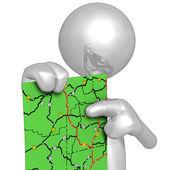 Road Map — Zdjęcie stockowe