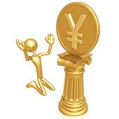 Yen Coin Idol — Stock Photo