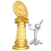 Dollar Coin Idol — Stock Photo