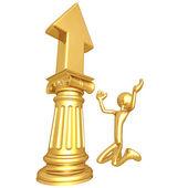 Upward Arrow Idol — Stock Photo