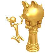 Piggy Bank Idol — Stock Photo
