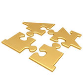 Realty Puzzle — Stock Photo