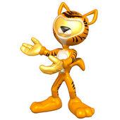Mini Gold Guy In A Cat Costume — Stock Photo