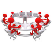 3d pracovní setkání — Stock fotografie