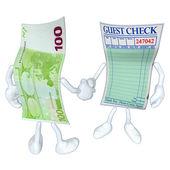 Money Restaurant Guest Check Handshake — Stock Photo