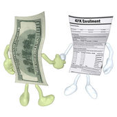 Money 401K Form Handshake — Stock Photo