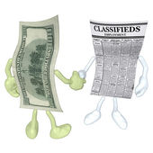 Money Employment Classifieds Handshake — Stock Photo