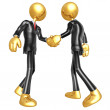 3D Businessmen Shaking Hands — Stock Photo #12350146