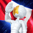 Gold Guy Astronaut — Foto Stock