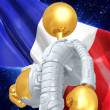 Gold Guy Astronaut — Stockfoto