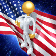 Stock Photo: Gold Guy Astronaut