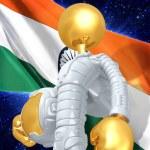 Gold Guy Astronaut — Stock Photo