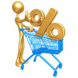 Stock Photo: Shopping Cart Percentage