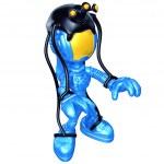 Mini Astronaut With Puppet Master Alien — Stock Photo