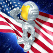 Guy Astronaut background — 图库照片