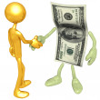 Money Handshake — Stock Photo #12355038