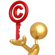 Copyright Key — Stock Photo