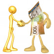 Money Handshake — Stock Photo #12357604