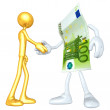 Stock Photo: Money Handshake