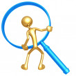 Magnifying Glass frame — Stock Photo