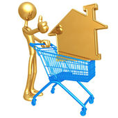 Shopping Cart Home — Stock Photo